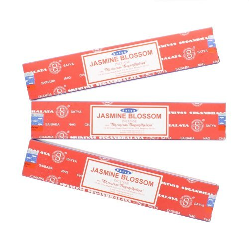 Satya Nag Champa Jasmine Blossom Incense Sticks - 3 Packs by Satya