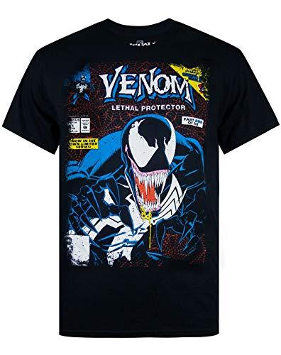 Estar listo para cualquier cosa con este impresionante Marvel Comic Venom hombre de la camiseta. Esta licencia oficial de Marvel Comics camiseta ofrece vibras cómic del vintage con una sensación de alta calidad y acabado. Mostrando el icono de Marvel...