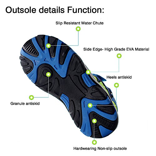 SITAILE Kinder Sportshuhe Walkingschuhe Outdoor Geschlossene Schuhe Kinder Geschlossene Grau Sandalen Sandalen Schuhe SITAILE qRwSIfFF