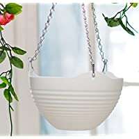 kimberleystore Creative Garden Balcony Hanging Planter Basket Flower Pot(White)