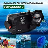 iPhone 7/8 Funda Impermeable Negra, 195ft/60m Profundidad Sellado Completo A Prueba de Golpes, Nieve, Polvo, Agua Certificado IPX8 Buceo Natación Surf Snorkel Funda 4.7 Pulgadas