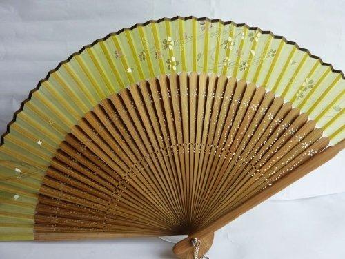 Tang dynasty (TM) Hochwertige Japanische Seide Handheld Fan Hand Fan Gelb mit Schmetterling - - Folding Fan Red Japanese