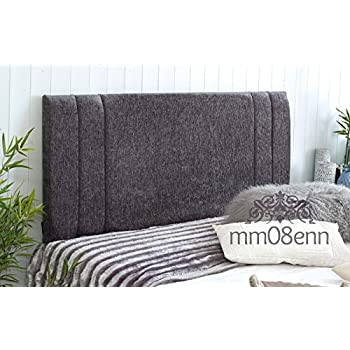 3ft Single Metal Headboard for Bed in smoked chrome finish BRAND NEW