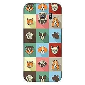 Bhishoom Designer Printed Back Case Cover for Samsung Galaxy S6 G920I, Samsung Galaxy S6 G9200 G9208 G9208/Ss G9209 G920A G920F G920Fd G920S G920T (Cat Dog Cartoon Pattern)