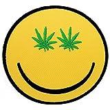 Weed sonriente Face Alta Pro Legalización de la Marihuana divertida Hippie Patch '7.5 x 7.5 cm' - Parche Parches Termoadhesivos Parche Bordado Parches Bordados Parches Para La Ropa Parches La Ropa Termoadhesivo Apliques Iron on Patch Iron-On Apliques
