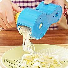 boldion (TM) nueva Premium Vegetable Spiralizer, espiral, cortador de verduras Pasta de fideos spaghetti espirales eléctrica en juliana cortador pelador