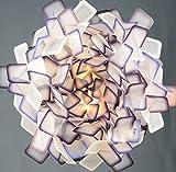 Runde Deckenleuchte, Metall Acryl Schlafzimmer Lampe, Cluster Multicolor Optional Deckenlampe, modernes einfaches Wohnzimmer, Restaurant Lampe LED 24W Decke Deckenleuchte , lila