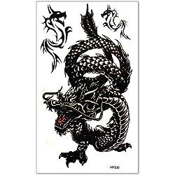 Nuevo Hombre Temporal Tatuaje Tattoo Dragón Pegatina Arte Corporal Impermeable