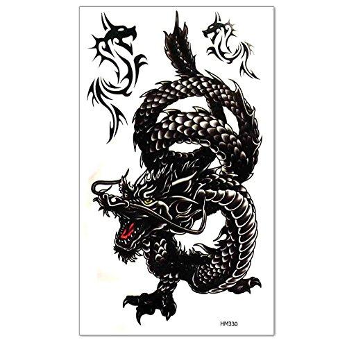 1-feuilles-tattoo-tatouage-temporaire-autocollant-stickers-dragon-art-dcor