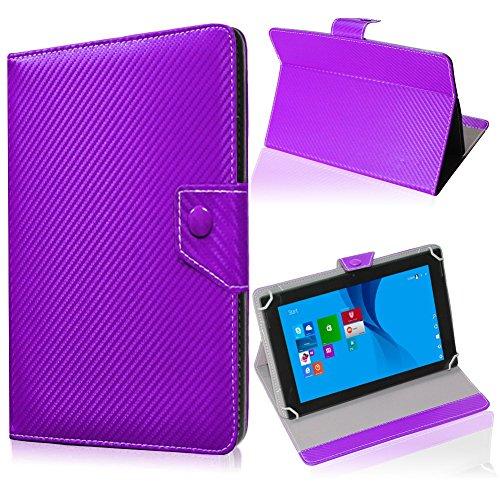 UC-Express Tablet Tasche für Blaupunkt Endeavour 101M Hülle Schutzhülle Carbon Case Cover, Farben:Lila