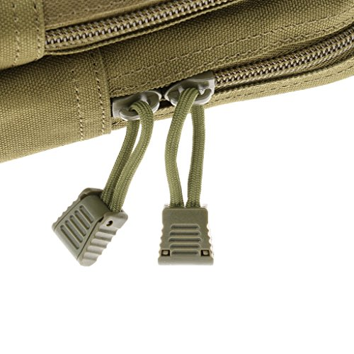 MagiDeal Mini Molle Tattico Sacca Sacchetto Pacchetto Militare Cintura Marsupio Accesorio Escursione All'aperto - CP Camouflage Verde Militare