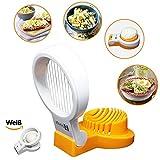 Eierschneider - praktischer Küchenhelfer mit langer Verwendungsdauer | 10 stabilen Edelstahldrähte ermöglichen 5mm dünne Scheiben | Spülmaschinenfest - bioThingz