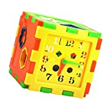 #1: Magideal Plastic Time Shape Teaching Training Educational Puzzle Toy