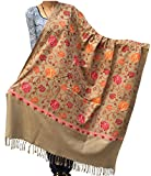 #10: Varun Cloth House Womens Aari Zaal Full Work Embroided Woolen Kashmiri Shawl