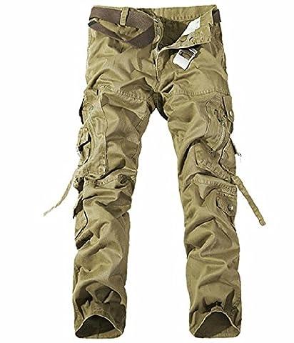UMilk Hommes Pantalons de charbon de coton pour de survêtement décontractés et décontractés
