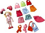 HABA Little Friends Feli - 4 Bendy Dollhouse Doll to Dress Up - 17 Piece Set with 3 Hair Styles by HABA