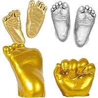 NUOLUX Fundición para bebés 3D para huellas de pies y manos