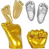 Yeahibaby Kit de Moulage 3D pour Bébé Emprinte de main ou pied Poudre de moulage pour DIY, souvenir