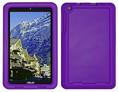 Bobj Silikon-Hulle Heavy Duty Tasche fur ASUS MeMO Pad 8 Tablette (ME181C, ME181CX, K011, MG8, MG181C, MG181CX) und ASUS VivoTab 8 (M81C, K01G) - BobjGear Schutzhulle (Violett)