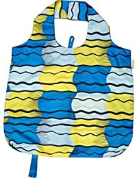 B.B.Begonia A80111612 Go With The Flow Printed Reusable Shopping Bag - 19.5 X 16.5 In. Pack Of 3
