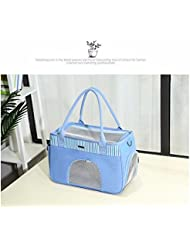 Emballage Pet Sac, Sac De Portables, Respirant Fournitures Non Déformées, Chien Sac,Bleu,S