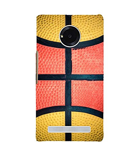 PrintVisa Designer Back Case Cover for YU Yuphoria :: YU Yuphoria YU5010 (Basket Ball Close up Pic)