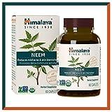Himalaya USDA Comprimés de Neem | Remède contre l'acné et les boutons | Favorise la détoxification et l'immunité| Équivalant à 5300 mg de poudre | 60 capsules de végane | 2 mois d'approvisionnement...