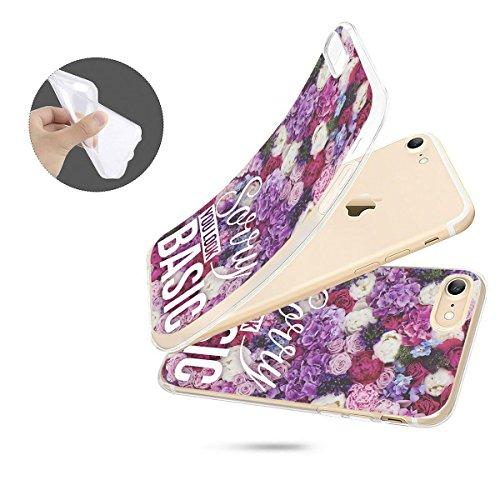 finoo | iPhone 6 / 6S Handy-Tasche Schutzhülle | ultra leichte transparente Handyhülle aus flexiblen Silikon | stylisches TPU Cover Case mit Motiv | King one schwarz Sorry you look basic