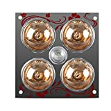 HWF Badezimmer Wärmelampe Decke Bad Wärmelampe Licht Led Beleuchtung Dreibettzimmer Multifunktions Warmluftventilation 30 * 30 cm Deckenleuchten ( Farbe : Yellow light bulb )