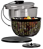 Chef Essential Stainless Steel Salad Spinner with Non-Slip Serving Bowl, Colander and Strorage Lid by Chef Essential