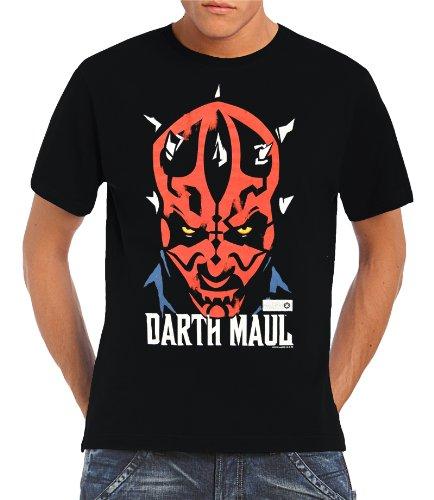 Star Wars–Darth Maul Logoshirt–Camiseta S–XXL) Negro negro Talla:extra-large