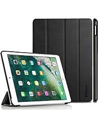 iPad 9.7 2017 Hülle, EasyAcc Ultra Dünn iPad 9.7 Zoll 2017 Smart Cover mit Automatischem Schlaf Funktion und Standfunktion - Hochwertiges PU Leder Hülle (Schwarz, Kunstleder, Ultra Dünn)