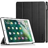 iPad 9.7 Hülle 2017, EasyAcc Ultra Dünn Smart Cover mit Automatischem Schlaf Funktion und Standfunktion - Hochwertiges PU Leder Hülle für iPad 9.7 Zoll 2017 Schwarz