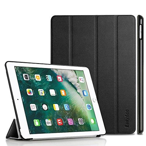 Preisvergleich Produktbild iPad 9.7 Hülle 2017, EasyAcc Ultra Dünn Smart Cover mit Automatischem Schlaf Funktion und Standfunktion - Hochwertiges PU Leder Hülle für iPad 9.7 Zoll 2017 Schwarz