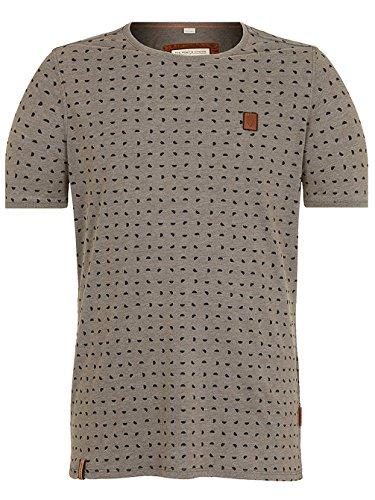Naketano Male T-Shirt Stricherjunge heritage dark grey melang