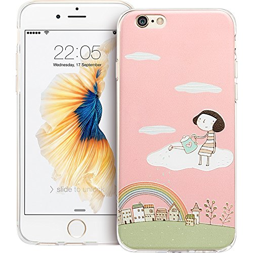 iPhone SE Hülle, ESR® Weiche Silikon Schutzhülle mit Niedlich Illustrator Muster für iPhone SE 5S 5 (Lolita) Marvelland_Lolita