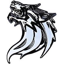 Goliton® Lobo 3D Car Styling coche del carro Motor Head Logo Primer insignia del emblema de la etiqueta engomada del metal 4M cinta adhesiva Un par de carga