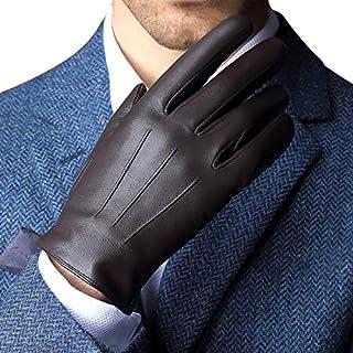 HARRMS Herren Beste Touchscreen Nappa-echtes Leder-Handschuhe für Texting Fahren Winter-kalte Wetter Handschuhe M-8.5