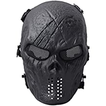 Coofit Mascara Protectora Craneo Militar Amenazador Resistente Duradera PaintBall