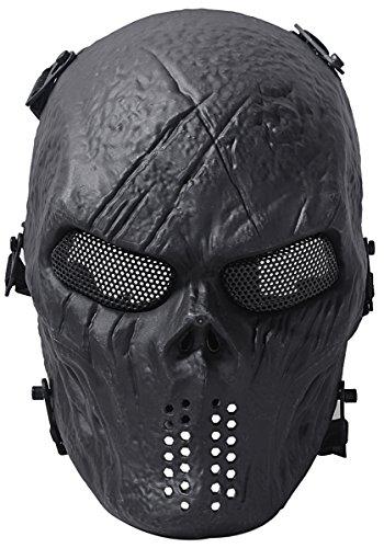 Fansport Máscara Táctica, Airsoft Mascarilla al Aire Libre Juego Máscara Facial Cara Completa Traje Máscara
