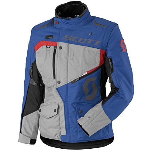 Scott Dualraid DP Damen Motorrad Jacke grau/blau 2018: Größe: L (40)