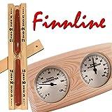 Weigand Thermometer - Hygrometer - Sanduhr für die Sauna oder Infrarotkabine im Set I Saunazubehör I Zubehörset