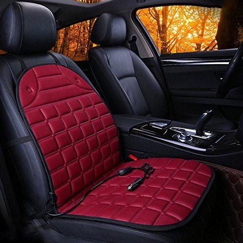 Sedeta® Red Grid heating car seat cover heated cushion chair mat pad protector for driver four seasons interior supplies
