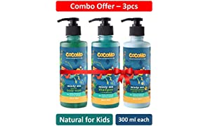 Cocomo Natural, Sulphate and Paraben Free Kids Bath & Body Combo: Minty Sea Range - Shampoo+Body Wash+Moisturizer (Pack of 3) 300 ml Each