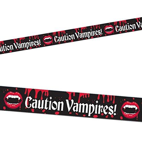 Neue Vampire Blood Bite CAUTION Tape Halloween Party Streamer Banner Party Dekoration (Costume Girl Witch School)