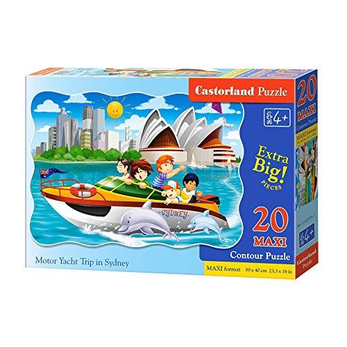 Castorland C-02375-1 Motor Yacht Trip in Sydney,Puzzle 20Teil Maxi