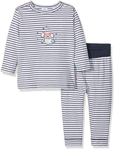 Sanetta Baby - Jungen Pyjama Long Zweiteiliger Schlafanzug, per Pack Beige (Sand Melange 1952.0), 86 (Herstellergröße: 086)