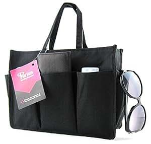 Periea - Organiseur de sac à main, 11 Compartiments - Kristine (Noir/Grande)
