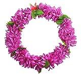 Lila Hawaiian 2PCS Luau Blumen-Leis Ketten Event-Supplies