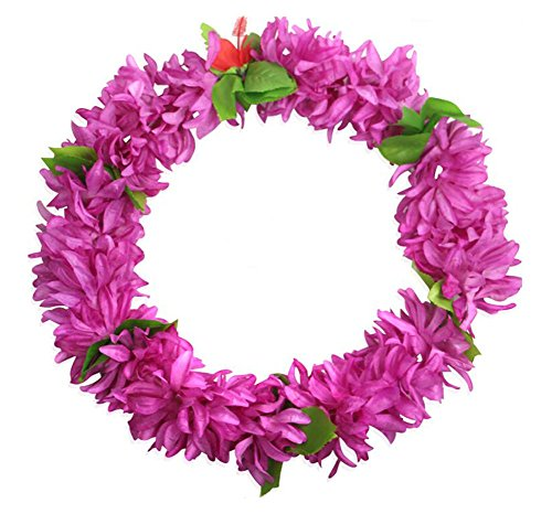 Lila Hawaiian 2PCS Luau Blumen-Leis Ketten Event-Supplies